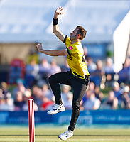 Matt Taylor bowls for Gloucestershire during Kent Spitfires vs Gloucestershire, Vitality Blast T20 Cricket at The Spitfire Ground on 13th June 2021