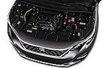 Car Stock 2017 Peugeot 3008 GT-Line 5 Door Suv Engine  high angle detail view