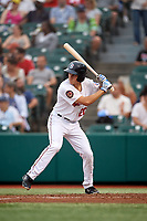 Brooklyn Cyclones Antoine Duplantis (20) at bat during a NY-Penn League game against the Tri-City ValleyCats on August 17, 2019 at MCU Park in Brooklyn, New York.  Brooklyn defeated Tri-City 2-1.  (Mike Janes/Four Seam Images)