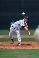 GCL Yankees West relief pitcher Bryan Blanton (51) delivers a pitch during a game against the GCL Pirates on July 25, 2017 at Pirate City in Bradenton, Florida.  GCL Yankees West defeated the GCL Pirates 11-3.  (Mike Janes/Four Seam Images)