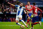 Borja Iglesias Quintas of RCD Espanyol (L) fights for the ball with Santiago Arias of Atletico de Madrid during the La Liga 2018-19 match between Atletico de Madrid and RCD Espanyol at Wanda Metropolitano on December 22 2018 in Madrid, Spain. Photo by Diego Souto / Power Sport Images