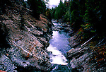 The Icicle River flows out of the Cascade Mountains toward Leavenworth, Washington, along the Alpine Lake Wilderness.  The Icicle River Gorge is characterized by unique quartz paterns.