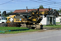 Specialized forestery equipment sitting idle in St-Michel des Saints where the main employer Louisiana Pacific recently shut down its two plants, because of wood low price, strong Canadian Dollar and increased cutting fees inposed by Quebec Government.<br /> (c) Pierre Roussel