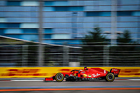 26th September 2020, Sochi, Russia; FIA Formula One Grand Prix of Russia, qualification;  5 Sebastian Vettel GER, Scuderia Ferrari Mission Winnow before hitting the wall