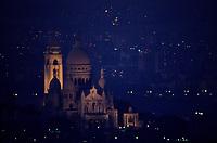 Europe/France/Ile-de-France/Paris: Montmartre et le Sacré Coeur vue de nuit