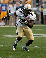 Georgia Tech running back JJ Green. The Pitt Panthers defeated the Georgia Tech Yellow Jackets 37-34 at Heinz Field in Pittsburgh, Pennsylvania on October 08, 2016.