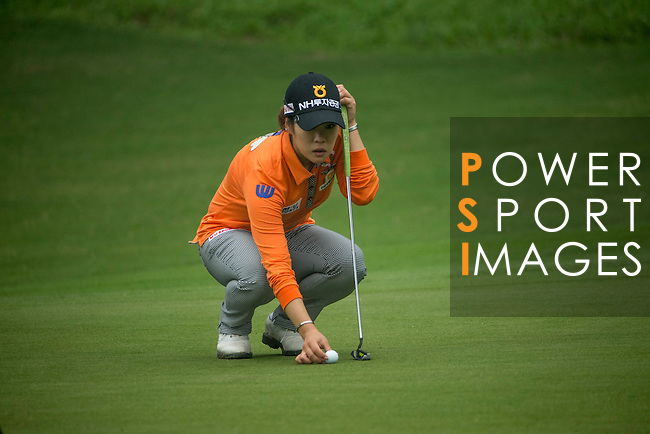 Seung Hyun Lee of South Korea plays during Round 4 of the World Ladies Championship 2016 on 13 March 2016 at Mission Hills Olazabal Golf Course in Dongguan, China. Photo by Victor Fraile / Power Sport Images