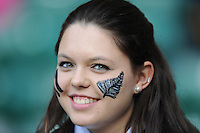 A New Zealand fan during the Rugby World Cup Final between New Zealand and Australia - 31/10/2015 - Twickenham Stadium, London<br /> Mandatory Credit: Rob Munro/Stewart Communications