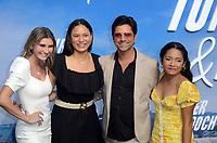 "LOS ANGELES - JUL 15:  Cricket Wampler, Tiana Lee, John Stamos, Tisha Custodio at Disney+ ""Turner & Hooch"" Premiere Event at Westfield Century City Mall on July 15, 2021 in Century City, CA"