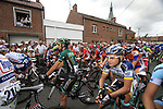 Riders lined up on the line just for the start of Stage 3 of the 99th edition of the Tour de France 2012, running 197km from Orchies to Boulogne-sur-Mere, France. 3rd July 2012.<br /> (Photo by Eoin Clarke/NEWSFILE)