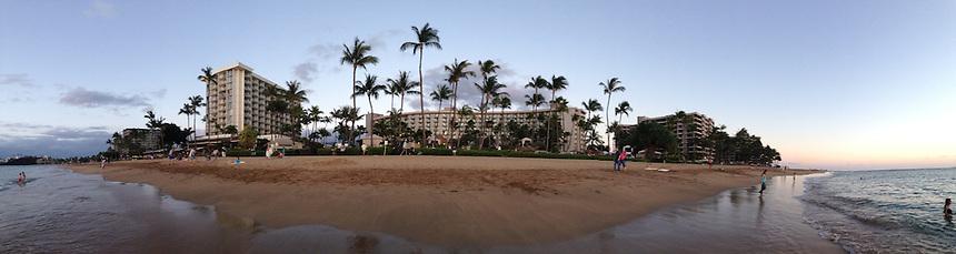 Ka'anapali Beach (Panorama), Westin Maui, Maui, Hawaii, US