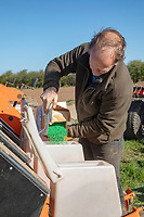 Filling drill with sugar beet seed - Lincolnshire, March