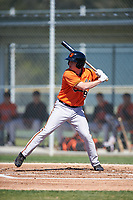 Baltimore Orioles Austin Anderson (90) at bat during a minor league Spring Training game against the Minnesota Twins on March 17, 2017 at the Buck O'Neil Baseball Complex in Sarasota, Florida.  (Mike Janes/Four Seam Images)