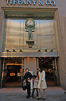 Jewellery giant Tiffany and Co in the upmarket Ginza shopping district, Tokyo, Japan..