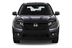 Car photography straight front view of a 2019 Honda Passport EX-L 5 Door SUV Front View