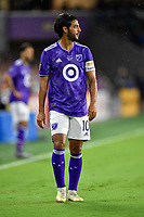 Orlando, FL - Wednesday July 31, 2019:  Carlos Vela #10 during an Major League Soccer (MLS) All-Star match between the MLS All-Stars and Atletico Madrid at Exploria Stadium.