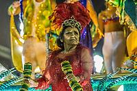Rio de Janeiro (RJ), 22/02/2020 CARNAVAL - RJ - DESFILE - Desfile das escolas de samba Inocentes de Belfort Roxo, da Serie A, neste sabado (22), no sambodromo, no centro do Rio de Janeiro (RJ). Mae da jogadora Marta, homenageada pela escola. (Foto: Ellan Lustosa/Codigo 19/Codigo 19)
