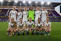 Orlando, FL - Saturday March 24, 2018: The Utah Royals FC Starting XI during a regular season National Women's Soccer League (NWSL) match between the Orlando Pride and the Utah Royals FC at Orlando City Stadium. The game ended in a 1-1 draw.
