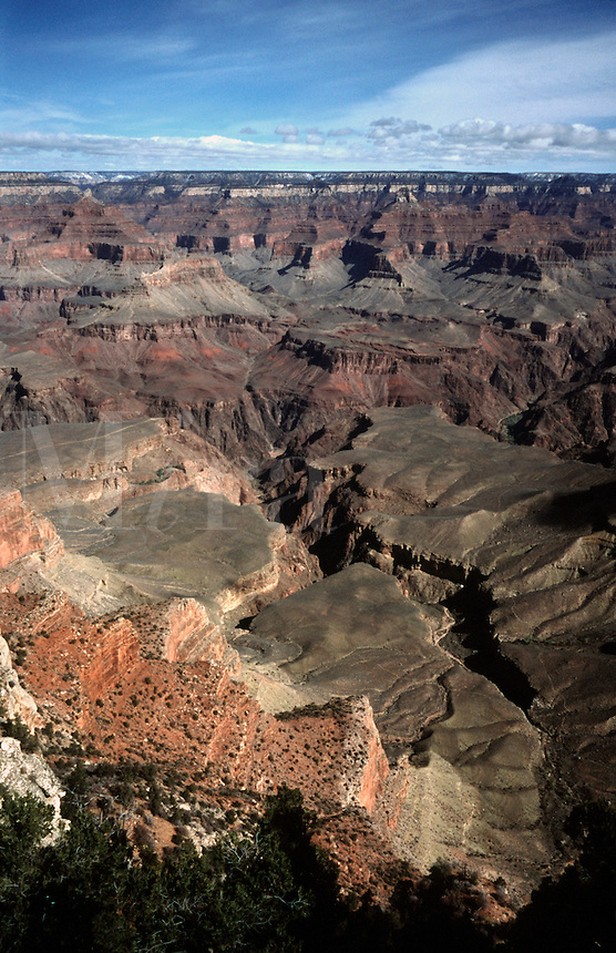 View of Grand Canyon from Yaki Point on the South Rim of Grand Canyon National Park, Arizona.