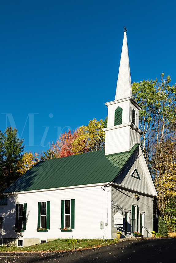 Charming New England church, denmark, Maine, USA.