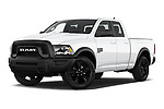Stock pictures of low aggressive front three quarter view of 2021 Ram 1500-Classic Warlock 4 Door Pick-up Low Aggressive