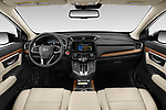 Stock photo of straight dashboard view of 2020 Honda CR-V Touring 5 Door SUV Dashboard