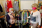 Margaret McAuliffe enjoying her shopping in Esther's Boutique as Ester gives her a helping hand in Abbeyfeale on Monday. L to r: Margaret McAuliffe and Esther O'Connell