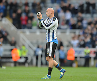Jonjo Shelvey of Newcastle United during the Barclays Premier League match between Newcastle United and Swansea City played at St. James' Park, Newcastle upon Tyne, on the 16th April 2016