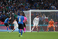 LONDON, ENGLAND - JULY 06: Federico Chiesa of Italy scores their side's first goal past Unai Simon of Spain during the UEFA Euro 2020 Championship Semi-final match between Italy and Spain at Wembley Stadium on July 06, 2021 in London, England. (Photo by Alex Morton - UEFA/UEFA via Getty Images)<br /> Photo Uefa/Insidefoto ITA ONLY