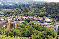 Pictured: A new housing development in the outskirts of Swansea.  Wednesday 16 June 2021<br /> Re: Riot aftermath in the Mayhill area of Swansea, Wales, UK.