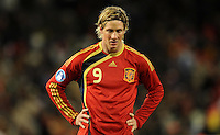 Fernando Torres of Spain looks dejected. USA defeated Spain 2-0 during the semi-finals of the FIFA Confederations Cup at Free State Stadium in Manguang/Bloemfontein, South Africa on June 24, 2009..