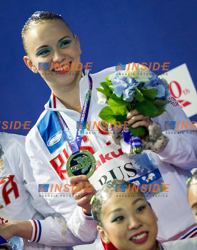 Podium<br /> Gold Medal<br /> RUS - Russian Federation<br /> CHIGIREVA Vlada KOLESNICHENKO Svetlana<br /> PATSKEVICH Aleksandra PROKOFYEVA Elena<br /> SHISHKINA Alla SHUROCHKINA Maria<br /> TIMANINA Anzhelika TOPILINA Gelena<br /> Team Free Final<br /> Day8 10/07/2015<br /> XVI FINA World Championships Aquatics<br /> Synchro<br /> Kazan Tatarstan RUS July 24 - Aug. 9 2015 <br /> Photo Pasquale Mesiano/Deepbluemedia/Insidefoto
