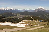 Blick auf Seefeld von der Rosshütte aus - Seefeld 26.05.2021: Trainingslager der Deutschen Nationalmannschaft zur EM-Vorbereitung