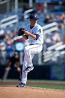 Everett AquaSox starting pitcher George Kirby (37) during a Northwest League game against the Eugene Emeralds at Funko Field on August 25, 2019 in Everett, Washington. Everett defeated Eugene 6-3. (Zachary Lucy/Four Seam Images)