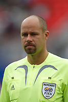 Referee Martin Hansson. Austria (AUT) defeated the United States (USA) 2-1 in overtime of a FIFA U-20 World Cup quarter-final match at the National Soccer Stadium at Exhibition Place, Toronto, Ontario, Canada, on July 14, 2007.