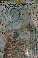Europe/France/Auvergne/63/Puy-de-Dôme/Ris: Intérieur de l'église Sainte-Agathe - Détail fresque XVème siècle