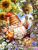 Dona Gelsinger, CUTE ANIMALS, LUSTIGE TIERE, ANIMALITOS DIVERTIDOS, paintings+++++,USGE2112,#ac#, EVERYDAY ,dwarf,flowers,garden ,children,