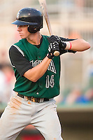 Augusta shortstop Anthony Contreras (14) stands in to take his swings versus the Kannapolis Intimidators at Fieldcrest Cannon Stadium in Kannapolis, NC, Saturday, June 17, 2006.