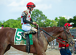 July 10, 2021: Souper Sensational, ridden by Flavien Prat, wins the 2021 running of the G3 Victory Ride S. at Belmont Park in Elmont, NY. Sophie Shore/ESW/CSM