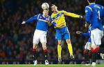 Rangers v St Johnstone...19.11.11   Scottish Premier League.Kevin Moon and Steven Davis.Picture by Graeme Hart..Copyright Perthshire Picture Agency.Tel: 01738 623350  Mobile: 07990 594431