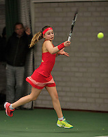 Rotterdam, The Netherlands, March 19, 2016,  TV Victoria, NOJK 14/18 years, Anouck Vrancken-Peeters (NED)<br /> Photo: Tennisimages/Henk Koster
