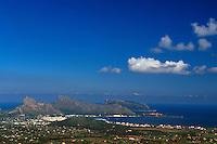 Spanien, Mallorca, Blick vom  Puig de Maria bei Pollenca auf die Halbinsel Formentor