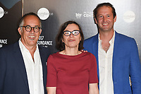 John Cooper, Claire Binns and Trevor Groth (Festival Organisers)<br /> at the Sundance Film Festival:London opening photocall, Picturehouse Central, London.<br /> <br /> <br /> ©Ash Knotek  D3270  01/06/2017