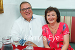 Enjoying the reopening of indoor dining in Cassidys on Monday, l to r: Ed and Miriam Meredith.