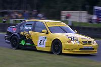 Round 9 of the 2002 British Touring Car Championship. #21 Gareth Howell (GBR). Team Atomic Kitten. MG ZS.
