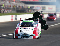 Sep 2, 2018; Clermont, IN, USA; NHRA funny car driver Jim Campbell during qualifying for the US Nationals at Lucas Oil Raceway. Mandatory Credit: Mark J. Rebilas-USA TODAY Sports