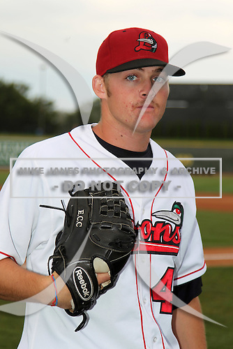 Great Lakes Loons pitcher Ryan Christenson (41) during a game vs. the Dayton Dragons at Dow Diamond in Midland, Michigan August 19, 2010.   Great Lakes defeated Dayton 1-0.  Photo By Mike Janes/Four Seam Images