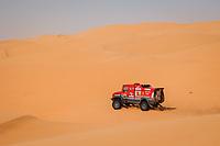 5th January 2021; Dakar Rally stage 3; 505 Vishneuski Aliaksei (blr), Novikau Maksim (blr), Sachuk Siarhei (blr), Maz, Maz-Sportauto, Camion, Truck, action during the 3rd stage of the Dakar 2021 between Wadi Al Dawasir and Wadi Al Dawasir, in Saudi Arabia on January 5, 2021