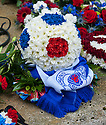 "A floral tribute ""From the Team of '72"" left at Mortonhall Crematorium after the funeral service for Sandy Jardine."