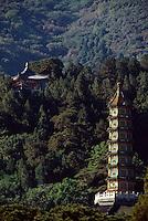 China, Peking, XiangShan-Park, Pagode LiuLiTa